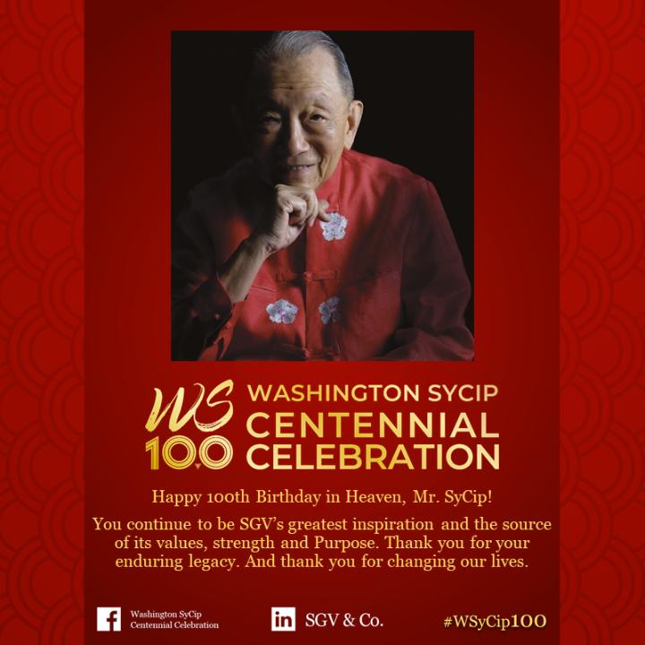 Washington SyCip Centennial Celebration