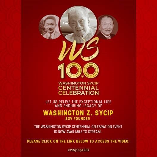 Washington SyCip Centennial Celebration Replay